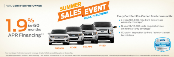 Ford Summer Sale